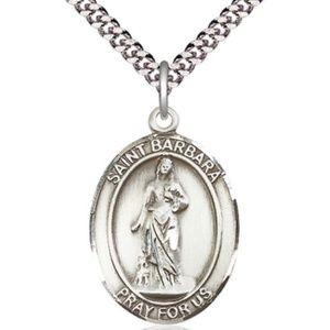 Jewelry - Sterling Silver St Barbara Pendant